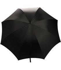 alexander mcqueen guarda-chuva com detalhe de caveira - preto