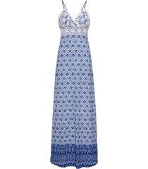 abito lungo con pizzo (blu) - bodyflirt