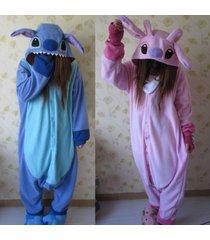 adult stitch kigurumi pajamas cosplay animal sleepwear costume party onesie