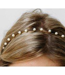 jennifer behr women's's iris skiny headband - pearl