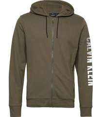 full zip hooded jacket hoodie grön calvin klein performance