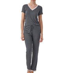 pijama cor com amor 12345 - cinza - feminino - dafiti