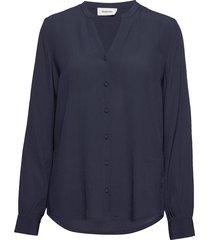 alissa shirt blus långärmad blå modström