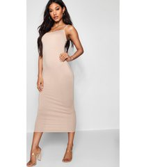 jersey square neck midaxi dress, sand