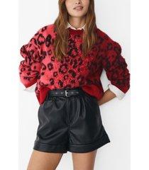 mango women's leopard print sweater