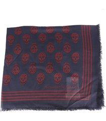 alexander mcqueen skull motif modal scarf