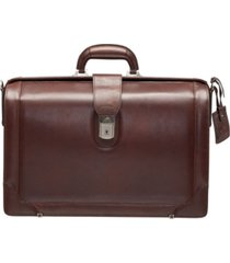 "beverly hills collection men's litigator briefcase with rfid secure pocket for 17.3"" laptop"