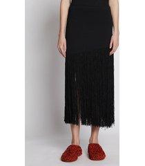 proenza schouler fringe knit skirt black l