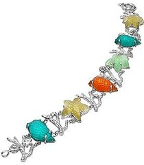 tagliamonte designer bracelets, marina collection - multicolor 18k gold bracelet