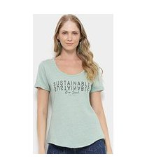 camiseta t-shirt colcci estampa eco soul feminina
