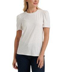 lucky brand cotton puff-sleeve t-shirt