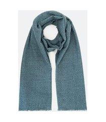 manta em acrílico rústica | accessories | azul | u