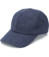 brunello cucinelli woven baseball cap - blue