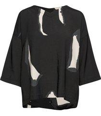 darleen blouses short-sleeved svart masai