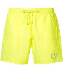 ea7 emporio armani woven swim shorts - yellow