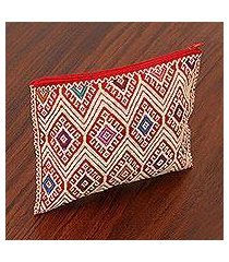 cotton cosmetic bag, 'awaiting the sun' (mexico)