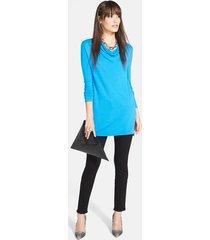 women's paige transcend - skyline skinny jeans, size 25 - black