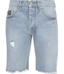 versace jeans couture icon denim shorts
