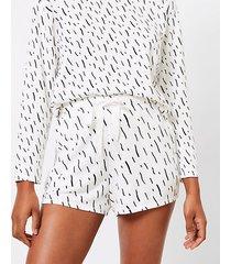 loft brushstroke pajama shorts
