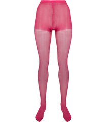 junya watanabe high-waist semi-sheer tights - pink