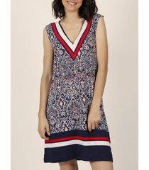 jurk admas marine mouwloze zomerjurk stijl