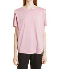 women's ted baker london women's structured shoulder t-shirt, size 1 - pink