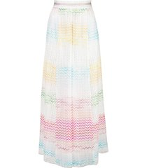 missoni mare sheer wide-leg beach trousers - white