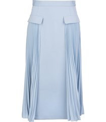 light blue skirt with pleated detail