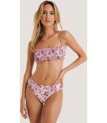 trendyol floral pattern bikini bottom - pink