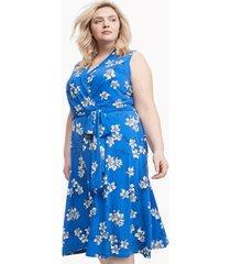 tommy hilfiger women's curve floral shift dress provence blue - 18w