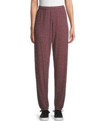 lauren moshi women's elasticized-waist jogger pants - sangria - size xs