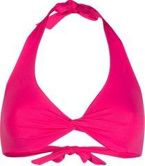 fisico twisted bikini top - pink
