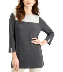 karen scott colorblocked tunic, created for macy's