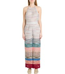 missoni one-piece jumpsuit in multicoloured knit