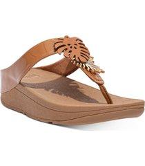 fitflop women's fino jungle leaf thong sandals women's shoes