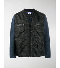 junya watanabe camouflage wool-knit jacket