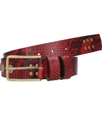 cinturon barcelona rojo cuero zappa