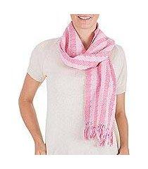 cotton scarf, 'tzutujil rose' (guatemala)