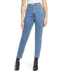 women's slvrlake beatnik high waist ankle slim jeans, size 31 - blue
