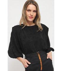 blusa colcci negro - calce holgado