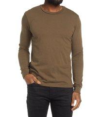men's groceries apparel long sleeve men's sleep shirt, size large - green