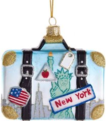 kurt adler noble gems glass new york suitcase ornament