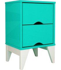mesa de cabeceira 2 gav. twister aqua tcil mã³veis - verde - dafiti