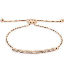 14k rose gold & diamond adjustable chain bracelet