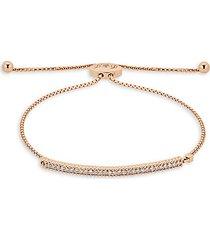 14k rose gold & diamond adjustable chain bracelet
