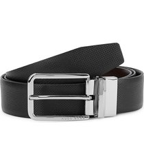 boss hugo boss men's ocalis leather belt - black