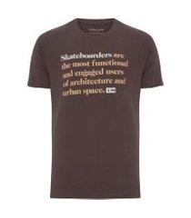 t-shirt masculina regular skateboarders - marrom