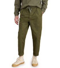 alex mill pull on pleated pants, size xx-large in military olive at nordstrom