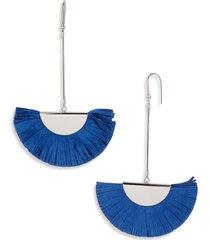 isabel marant suede fan earrings in royal blue/silver at nordstrom