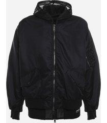 dolce & gabbana nylon jacket with mesh inserts
